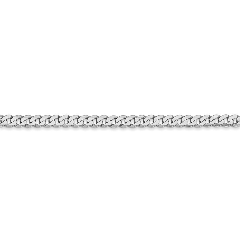 Leslie's Leslie's 14K White Gold 2.9mm Flat Beveled Curb Chain