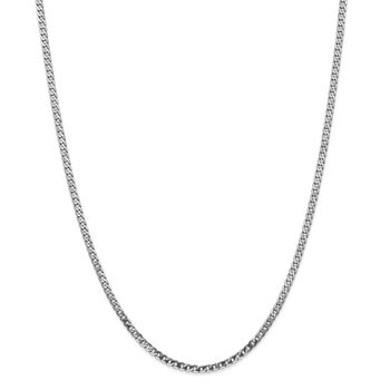 Leslie's 14K White Gold 2.9mm Flat Beveled Curb Chain