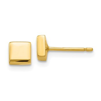 14k Polished Square Post Ear