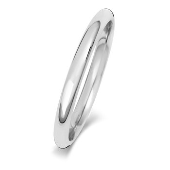 9Ct White Gold 2mm Traditional Court Wedding Ring