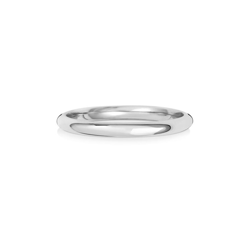 Treasure 9Ct White Gold 2mm Traditional Court Wedding Ring