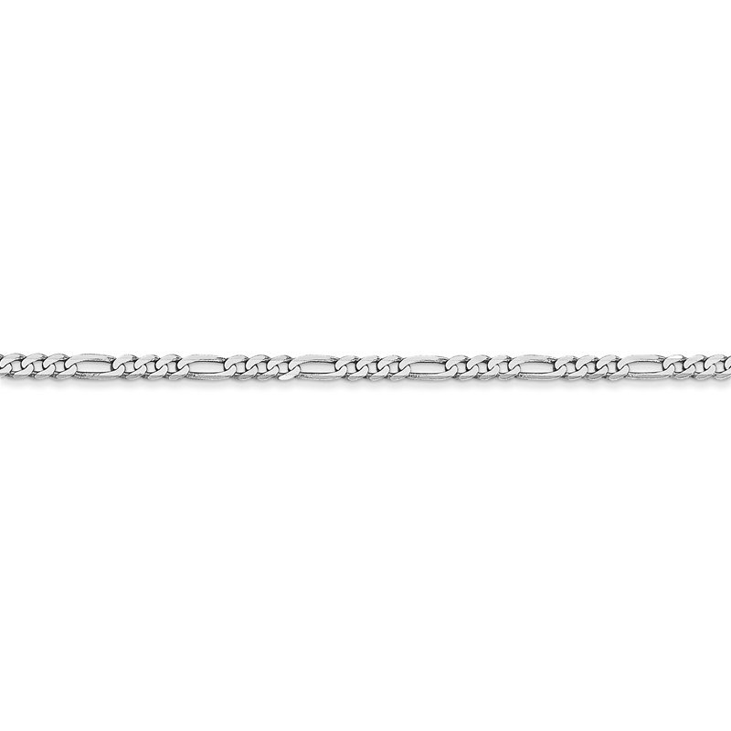 Quality Gold 14k WG 2.25mm Flat Figaro Chain Anklet
