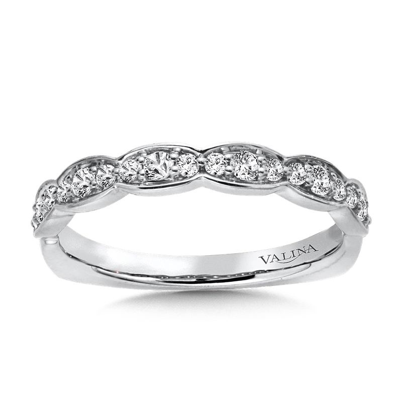 Valina Bridals Stackable Wedding Band in 14K White Gold (.23 ct. tw.)