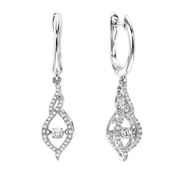 14K Diamond Rhythm Of Love Earrings 3/8 ctw