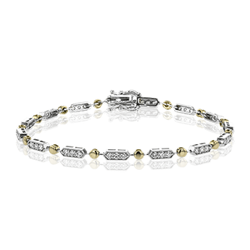 Simon G 18kt white and rose gold diamond line bracelet, 0.97ct. Available at our Halifax store.