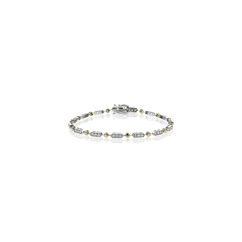 Simon G Simon G 18kt white and rose gold diamond line bracelet, 0.97ct. Available at our Halifax store.