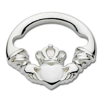 Sterling Silver Claddagh Large