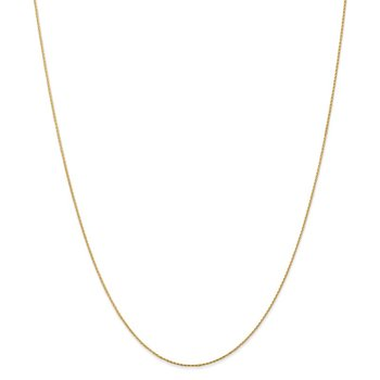 Leslie's 14K .80mm Round Diamond-cut Wheat
