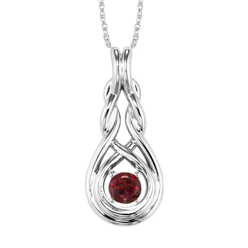 Mixables Silver Garnet Pendant ( Available in All Birthstone )