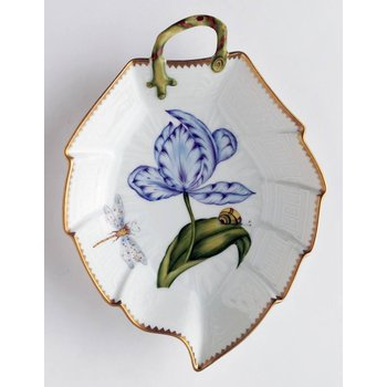 Blue & Purple Tulip Leaf Dish