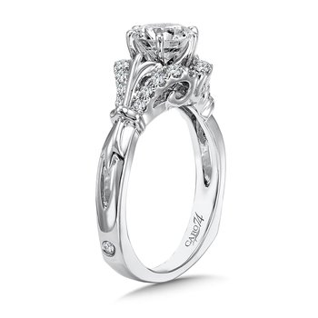 Inspired Vintage Collection Engagement Ring With Side Stones in 14K White Gold with Platinum Head (1ct. tw.)