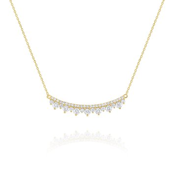 Diamond Curve Necklace Set in 14 Kt. Gold