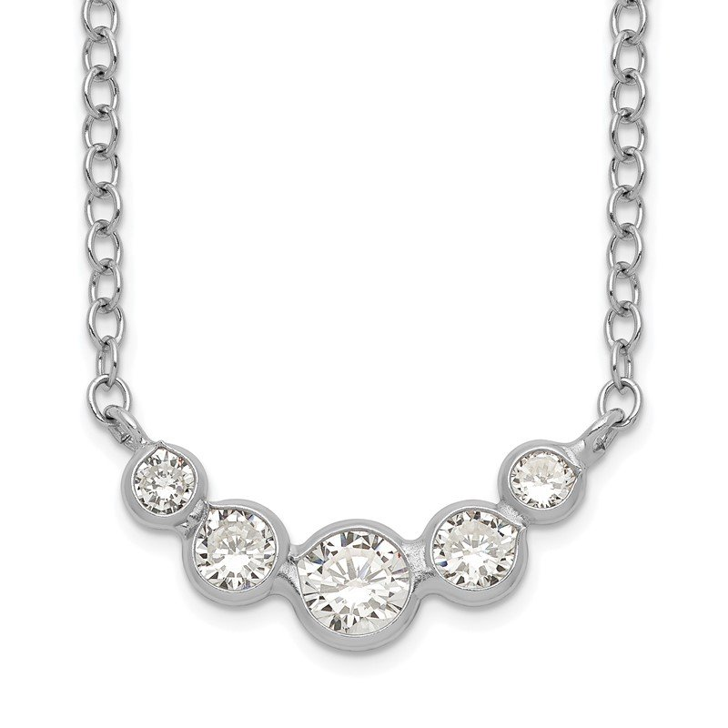 Quality Gold Sterling Silver CZ Necklace