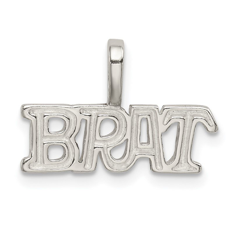 Quality Gold Sterling Silver Brat Pendant