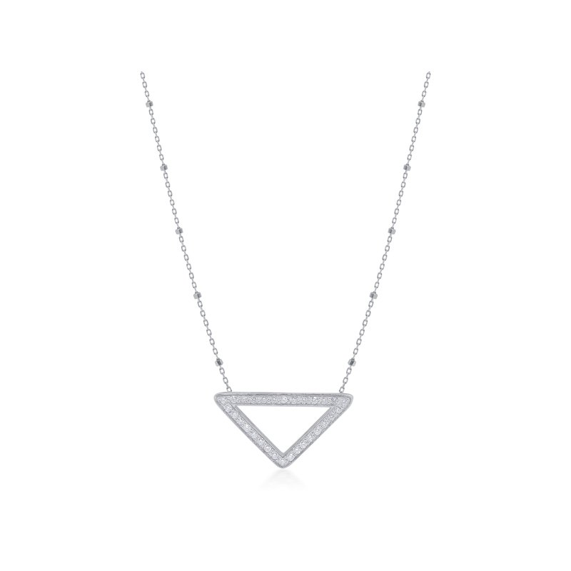 ALOR White Gold Montagna Necklace with Diamonds