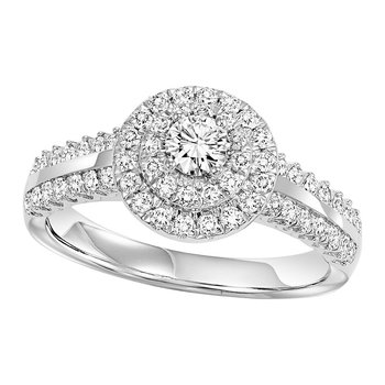 14K Diamond Engagement Ring 3/4 ctw Complete