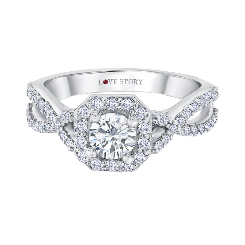 Infinity Halo Engagement Ring by Love Story
