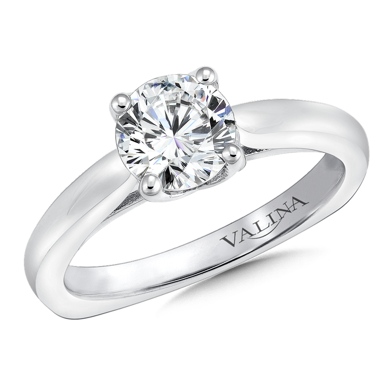 Valina Solitaire mounting .06 tw., 1 ct. round center.