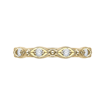 18K Yellow Gold Carizza  Wedding Band
