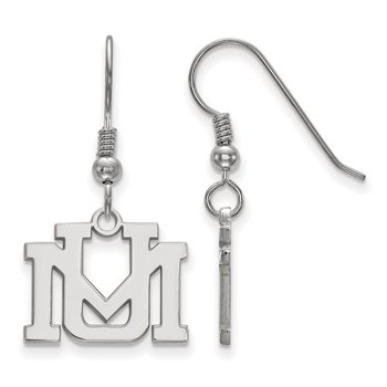 Sterling Silver University of Montana NCAA Earrings
