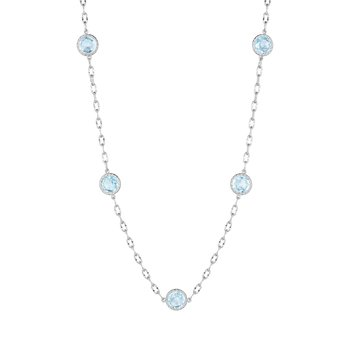 Raindrops Necklace featuring Sky Blue Topaz