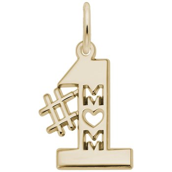 Number One Mom Charm