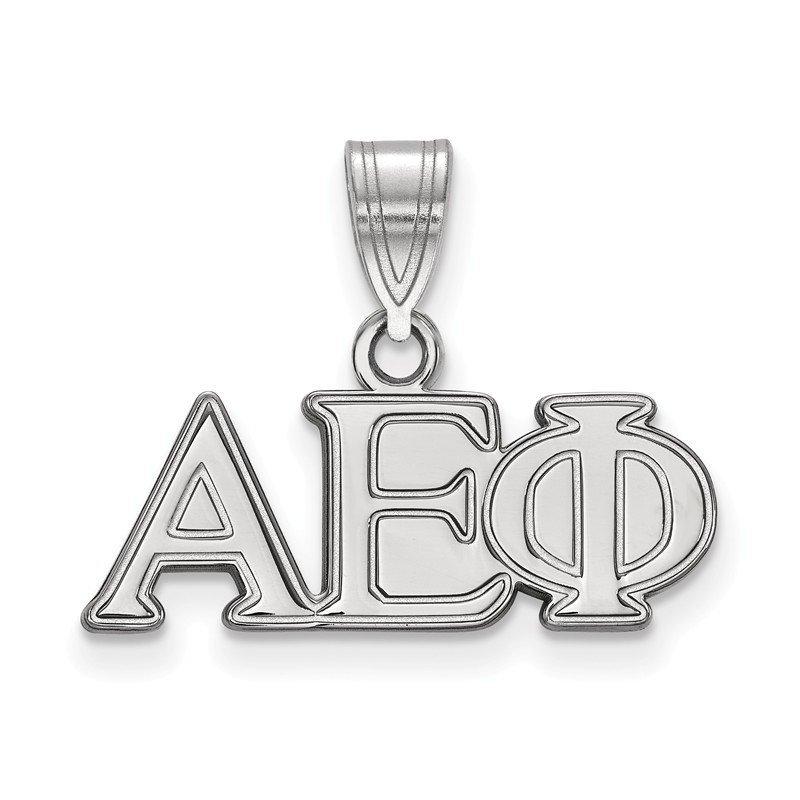 Greek Life Sterling Silver Alpha Epsilon Phi Greek Life Pendant