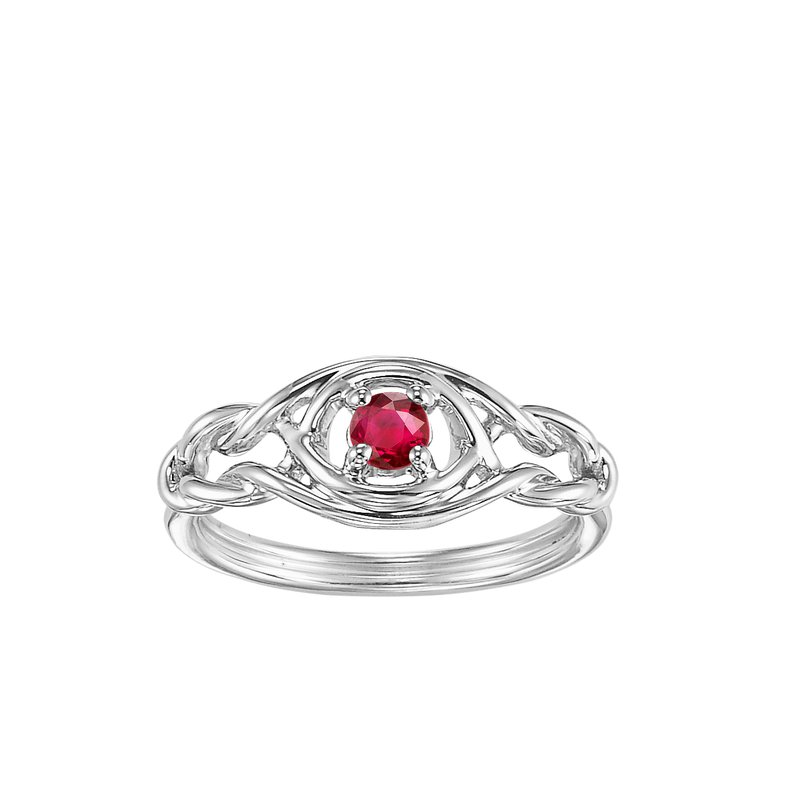 Mixables Silver Ruby Ring (Available In all BirthStones)