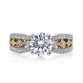 MARS 26043TT Diamond Engagement Ring 0.35 Ctw.