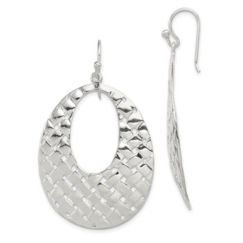 Sterling Silver Weave Design Dangle Earrings
