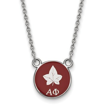 Sterling Silver Alpha Phi Greek Life Necklace