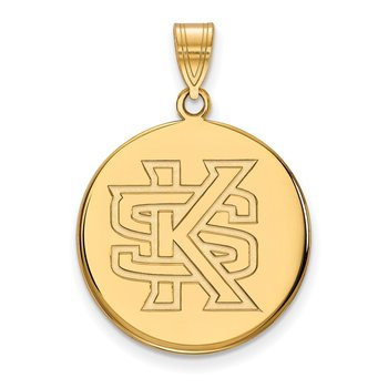 Gold Kennesaw State University NCAA Pendant