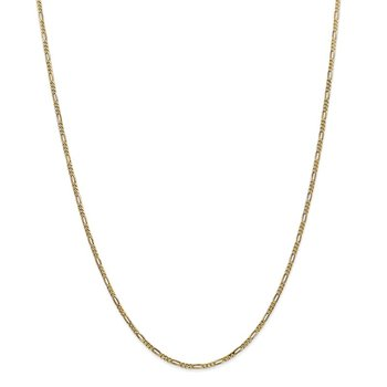 14k 1.8mm Flat Figaro Chain
