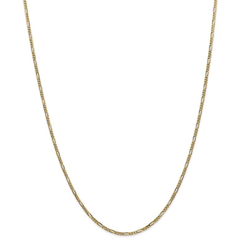 Quality Gold 14k 1.8mm Flat Figaro Chain