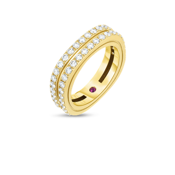 18KT 2 ROW DIAMOND PORTOFINO BAND