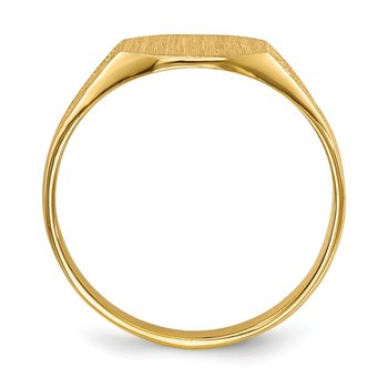 14k 7.0x8.5mm Closed Back Signet Ring