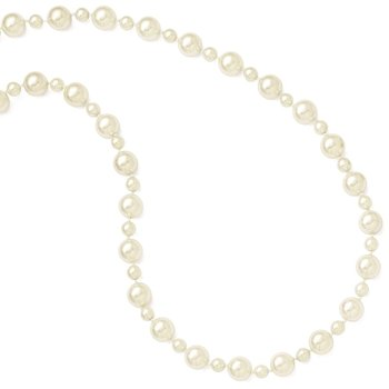 Majestik 7&12mm Wht Imitation Shell Pearl Hand-Knot Slip On Necklace