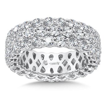 CARO 74 Eternity Band  in 14K White Gold (Size 8.0)