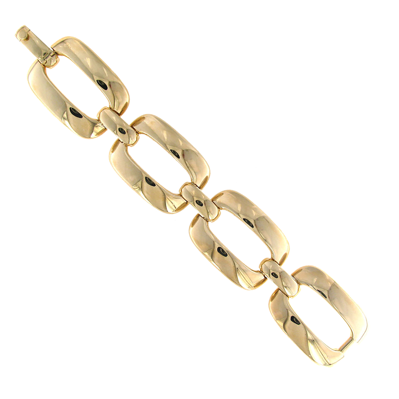Roberto Coin 18Kt Yellow Gold Rectangular Link Bracelet