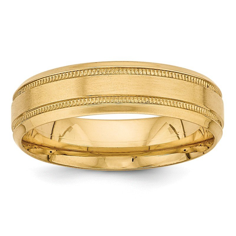 Quality Gold 14k Yellow Gold Heavy Comfort Fit Fancy Band