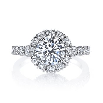 MARS 26494 Diamond Engagement Ring 0.93 Ctw.
