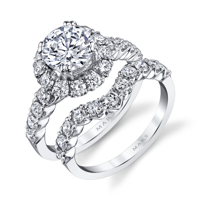 MARS Jewelry MARS 26494 Diamond Engagement Ring 0.93 Ctw.