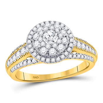14kt Yellow Gold Womens Round Diamond Solitaire Bridal Wedding Engagement Ring 1.00 Cttw