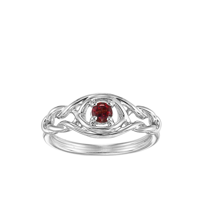 Mixables Silver Garnet Ring (Available In all BirthStones)