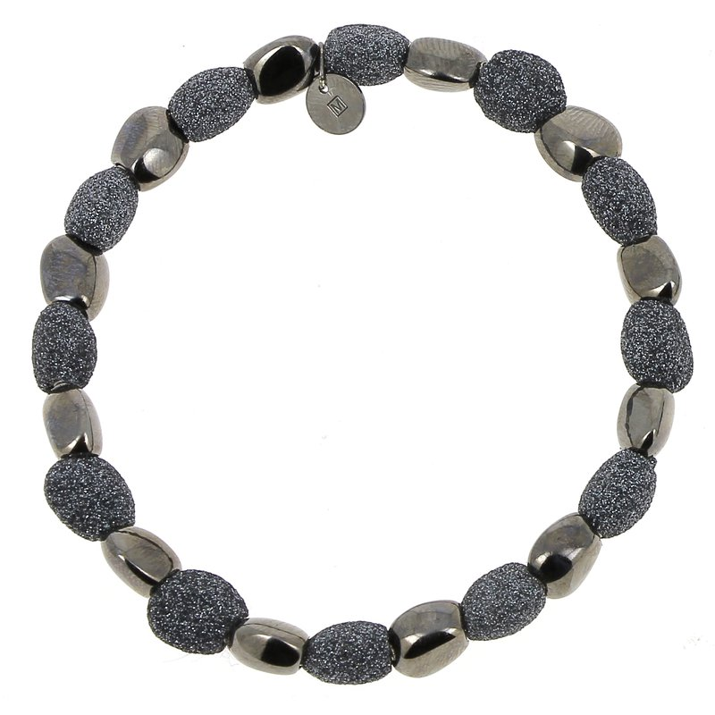 Pesavento Alternating Polvere Di Sogni Stones Bracelet - Dark Gray Polvere & Ruthenium