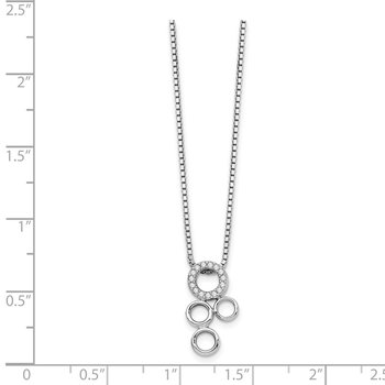 SS White Ice .07ct Diamond Slide Pendant Necklace