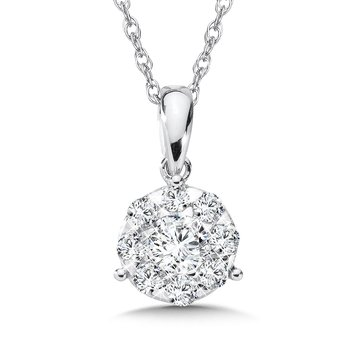 Diamond Pendant in 14K White Gold (1/2 ct. tw.)