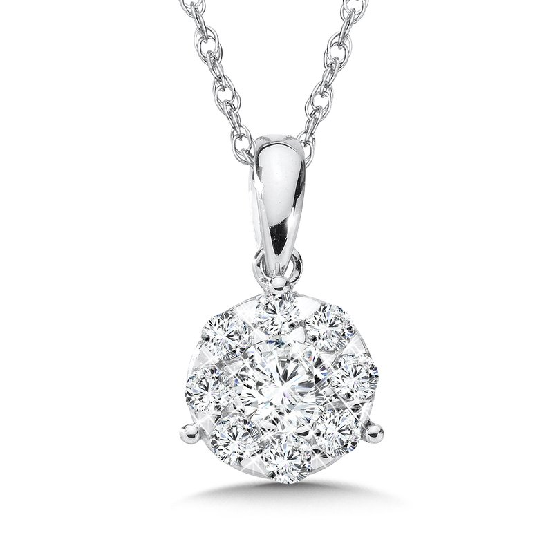 SDC Creations Diamond Pendant in 14K White Gold (1/2 ct. tw.)