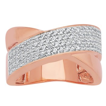 14KP 5/8CTW RIGHT HAND FASHION RING