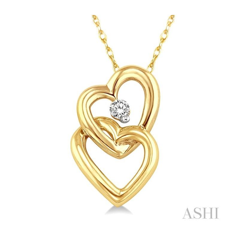 Barclay's Signature Collection twin heart shape diamond pendant